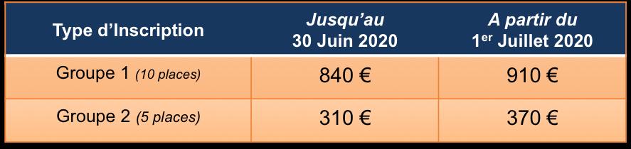 Tableau tarifs franc ais